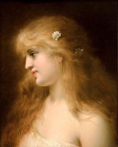 Pierre Olivier Joseph Coomans (Belgian, 1816-1889), A Young Beauty, 1881, oil on panel, signed