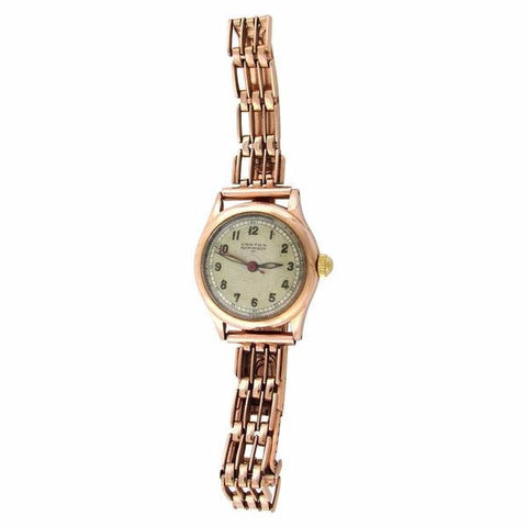 14K Rose Gold Aqua-Medico Doctor's Watch and Bracelet, Croton, Switzerland, ca. 1940