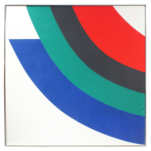 Dellard Cassity (American, 1926-2008), Geometric Abstract, 1980, acrylic on canvas, signed