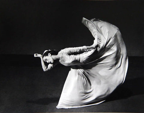"Barbara Morgan (American, 1900-1992), ""Martha Graham-Letter to the World (Kick)"", 1940, silver gelatin print, signed"