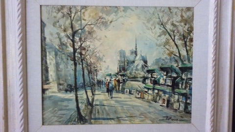 Lucien Delarue (French, b. 1925), Two views of Paris: Notre-Dame & Arc de Triomphe, watercolor on paper, signed