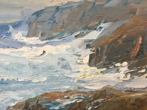 American School (20th century), Rockport Seascape, ca. 1978, oil on canvas board