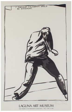 "Exhibition Poster, after Raymond Pettibon (American, b. 1957), ""I Thought California Would Be Different,"" 1989/92, screenprint"