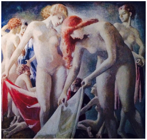 Jean MacLane (American, 1878-1964), The Graces, 1928, oil on canvas, signed and dated