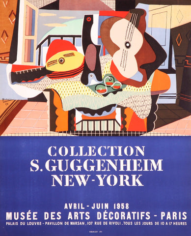 "After Pablo Picasso (Spanish, 1881-1973), ""S. Guggenheim New York"", 1958, lithographic poster, ed. 1000"