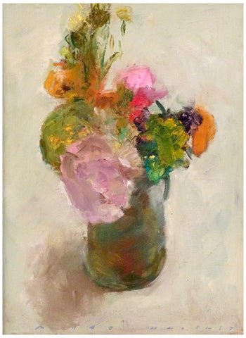 "Marc Whitney (American, b. 1955), ""Mixed Floral"", oil on linen, signed"