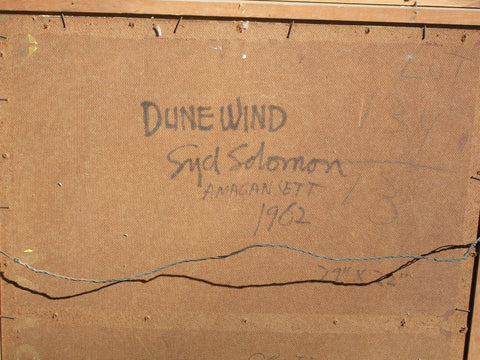 "Syd Solomon (American, 1917-2004), ""Dune Wind (Amagansett)"", 1962, oil and acrylic on masonite, signed"