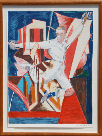 Larry Rivers (American, 1923-2002), Astaire in the Air, 1990, screenprint, signed, ed. 65