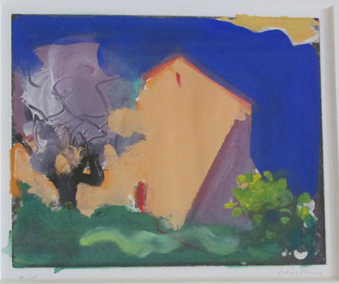 "Paul Resika (American, b.1928), ""Provencal Farmhouse"", monotype, ca. 1996, signed"