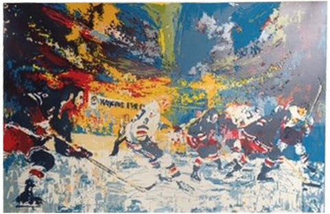 "LeRoy Neiman (American, 1921-2001), ""Ice Men"", 1974, screenprint on paper, signed, ed. 300"
