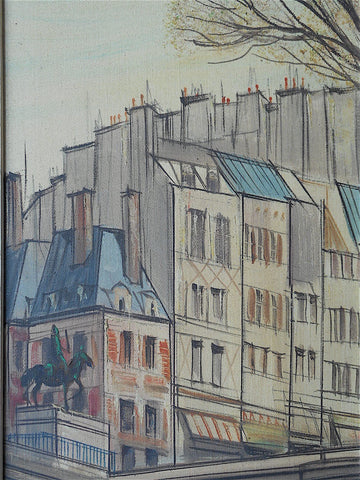 Paul Lambert (French, b. 1910), Le Vert Galant and Rue de l'Abreuvoir a Montmartre, a pair, ca. 1950, oil on canvas, signed