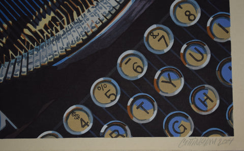 "Robert Cottingham (American, b. 1935), ""Lynn's Portable"", 2004, woodcut in colors, signed"