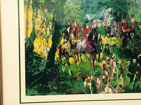 "LeRoy Neiman (American, 1921-2012), ""Chateau Hunt"", screenprint in colors, ca. 1979, signed, ed. 300"