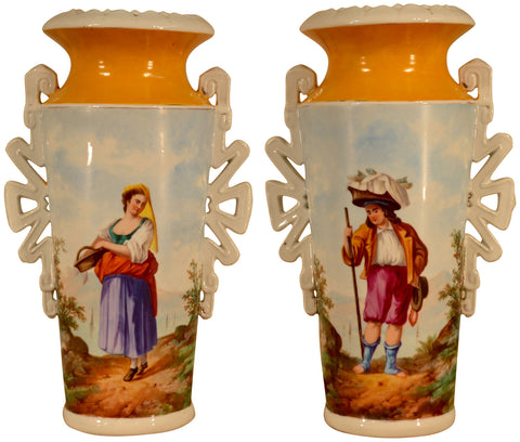 Pair of French Porcelain Vases, ca. 1870-90