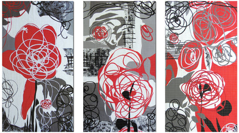 Bethan Ash (British, contemporary), Rhosyn Coch - Red Rose, 2010, mixed media, signed