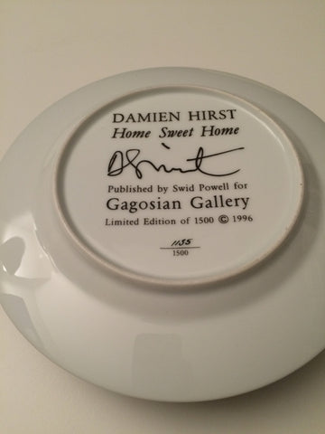 "Damien Hirst (British, b. 1965), ""Home Sweet Home"", 1996, screenprinted porcelain plate, with the artist's printed signature on the reverse, ed. 1500"