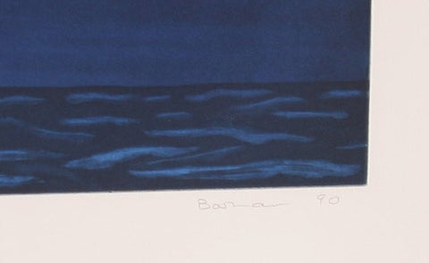 "Richard Bosman (American, b. 1944), ""Night Sky"", 1990, etching and aquatint, signed, ed. 35"