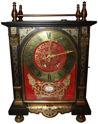 Louis XIV Style Ebonized and Gilt Bracket Clock, probably Continental, ca. early 20th century