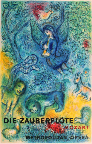 After Marc Chagall (Belorussian/French, 1887-1985), The Magic Flute (Die Zauberflöte), 1967, lithograph