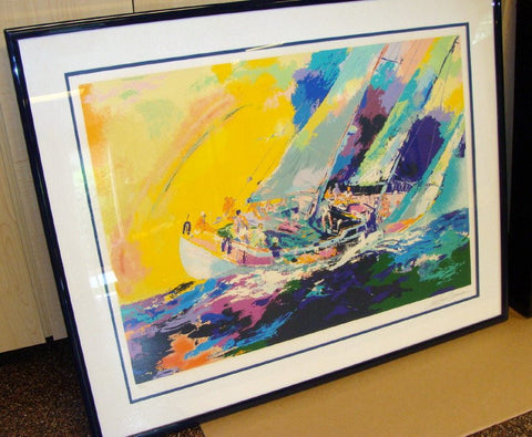 "LeRoy Neiman (American, 1921-2012), ""Hawaiian Sailing"", 1983, silkscreen in colors on paper, signed, ed. 300Undo"