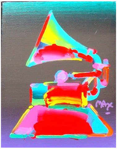 "Peter Max (American, b. 1937), ""Gramophone XV"", acrylic on canvas board, signed"