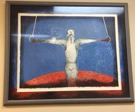 "Rufino Tamayo (Mexican, 1899-1991), ""Iron Cross (Cruz de Hierro)"", 1988, lithograph in colors, signed (Pereda 332)"