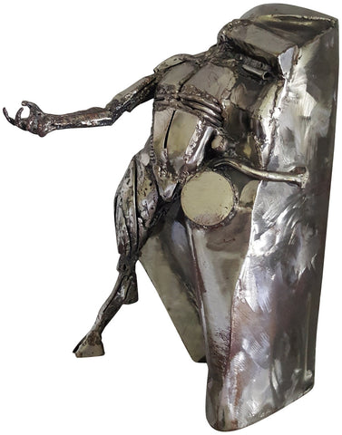 Theodore Gall (American, b. 1941), Satyr, steel, signed