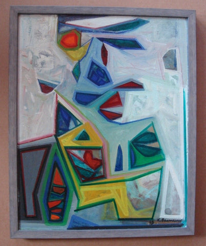 Karl Baumann (American 1911-1984), Untitled (Abstract), 1968, oil on panel, signed