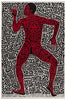 "Keith Haring (American, 1958-1990), ""Into 84"" (Tony Shafrazi Gallery Poster), 1984, offset lithograph in colors"