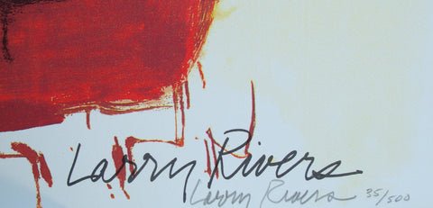 Larry Rivers (American, 1923-2002), Dutch Masters, 1991, offset lithograph in colors with silkscreen, signed, ed. 500