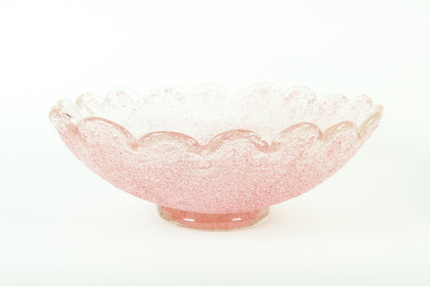 Two Murano Glass Centerpiece Bowls, ca. 1940s