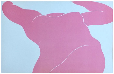 Milton Glaser (American, b. 1929), Pink Foreshortened Nude, lithograph in color, 1977