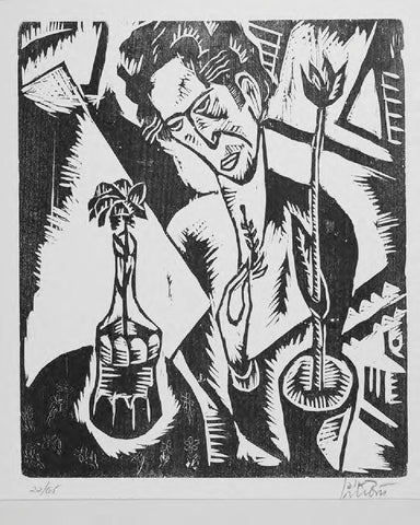 "Reuven Rubin (Israeli, 1893-1974), ""Godseekers"" , the complete portfolio of 12 woodcuts, including text by Dr. Haim Gamzu, each signed, ed. 85"