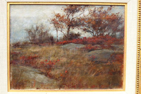 Charles Courtney Curran (American, 1861-1942), Autumn Landscape, oil on canvas, signed