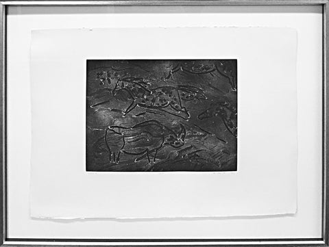 "Elaine De Kooning (American, 1918-1989), ""Torchlight Cave Drawings #7"", 1985, etching, signed and dated"