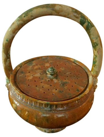 French Pottery Potpourri Basket, ca. 1920s