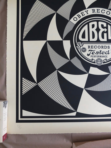 "Shepard Fairey (American, b. 1970), ""Tested Performance"", 2014, screenprint on varnished wove paper, signed, ed. 50"