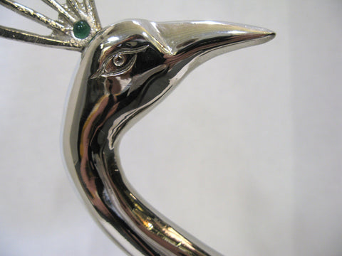 Mid-Century Silverplate Sculpture of a Peacock, ca. 1950-60