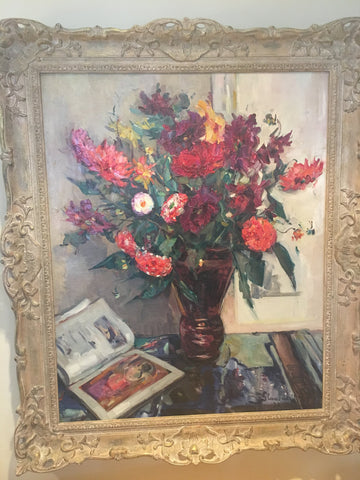 Hubert Glansdorff (Belgian, 1877-1964), Floral still life, oil on canvas, signed