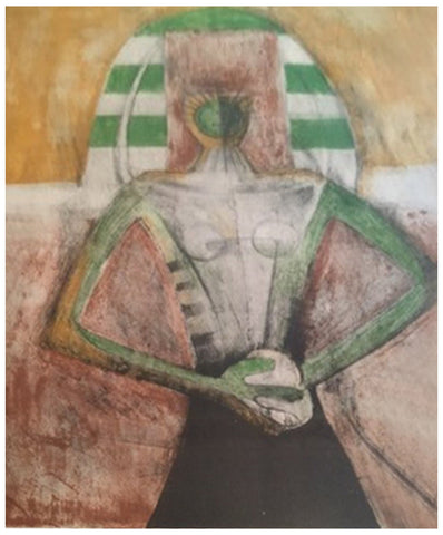 "Rufino Tamayo (Mexican, 1899-1991), ""Carnavalesca"", 1969, color lithograph, signed"