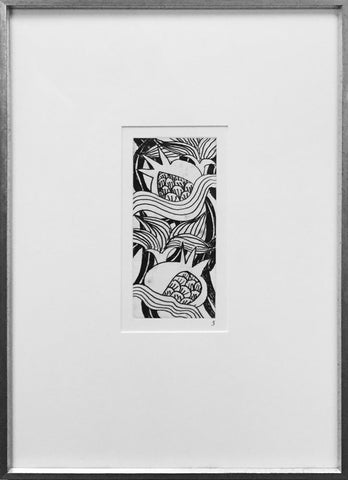 "Robert Kushner (American, b. 1949), ""Pomegranates and Lilies"", 1980,  etching, ed. 35"