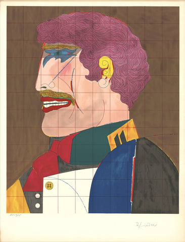 "Richard Lindner (American, 1901-1978), ""Profile"", 1969, lithograph, signed and numbered"