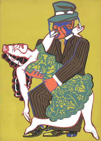 Red Grooms (American, b. 1937), Mango Tango, 1973, screenprint, signed, dated, ed. 250