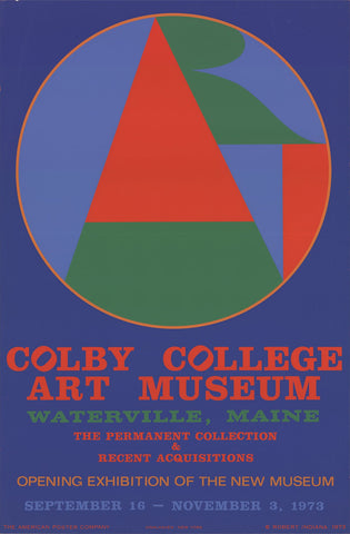Exhibition Poster, after Robert Indiana (American, b. 1928), Colby College Art Museum, 1973, screenprint