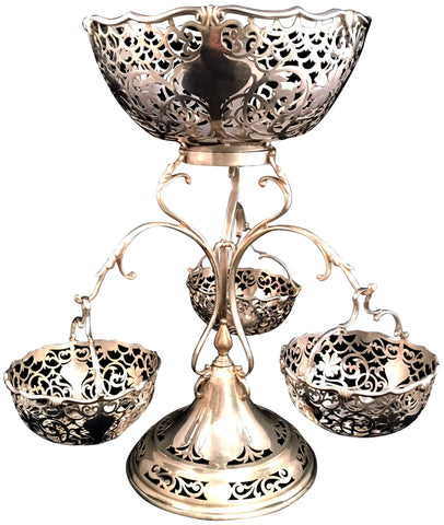 Edwardian Silver Epergne, George Maudsley Jackson & David (Landsborough) Fullerton, London, 1909