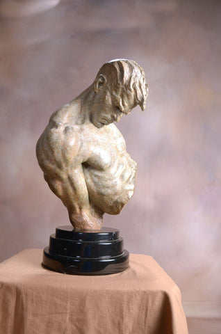 Richard MacDonald (American, b. 1946), The Gymnast, bronze, signed, ed. 100