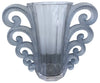 "R. Lalique ""Beauvais"" Frosted Blue Glass Vase, No. 1069, designed in 1931, France, executed post 1945"