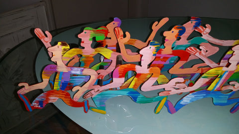 David Gerstein (Israeli, b. 1944), Runners, metal sculpture, signed, ed. 295