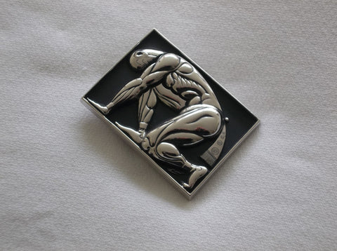 Erté Sterling Silver and Enamel Belt Buckle 1965, numbered 32/250