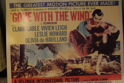 "Original ""Gone with the Wind"" Movie Poster, 1954"